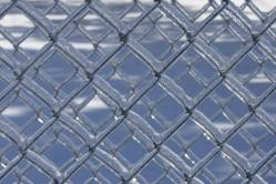 This fence is double secure with the added help of ice