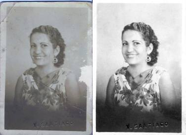 c.1940 My another photo of my wonderful great-grandmother, Ynocencia Natividad Peña Garcia.
