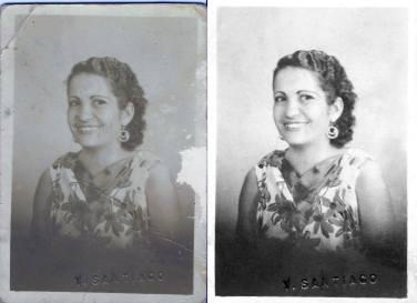 c.1940 My another photo of my wonderful great-grandmother, Ynocencia Natividad Peña Garcia.