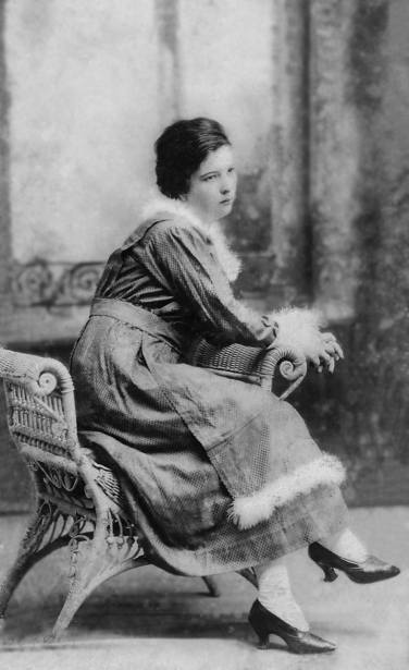 1919 My great-great-grandmother, Olivia Valcarcel. The picture was taken in April 13, 1919. Though she seems to have black hair in this photo, her hair was actually red, which is where my dad gets it from She wrote: To mi beloved grandmother as a keepsake from her granddaughter - Olivia