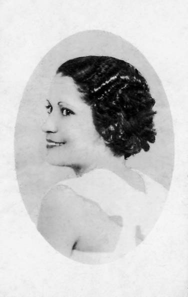 "c. 1935 My beautiful great-grandmother, Ynocencia Natividad Peña Garcia. She wrote: ""With all my love, to my idolized Pablo, from your always, Ynocencia."""