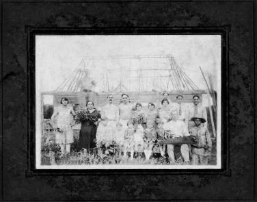 c. 1930 My great-great grandparents, Domingo Viera and Margarita Segui Martinez, and their family. The photo was taken during the construction of their home.